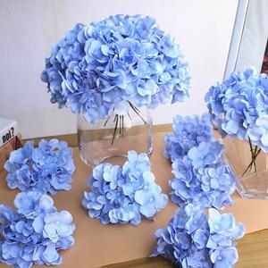 Image 1 - 10pcs/lot Colorful Decorative Flower Head Artificial Silk Hydrangea DIY Home Party Wedding Arch Background Wall Decorative Flowe
