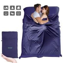 Сверхлегкий Открытый спальный мешок лайнер полиэстер понджи портативный одиночные спальные мешки для кемпинга путешествия здоровый Открытый спальный мешок