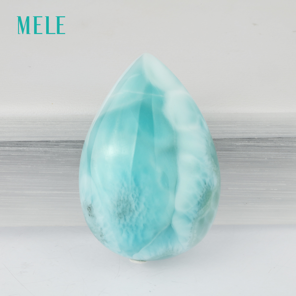 Natural blue larimar stone, 9.6 gram in pears shape 34mm*23mm, big loose stone and blue color, best gift for grandparentsNatural blue larimar stone, 9.6 gram in pears shape 34mm*23mm, big loose stone and blue color, best gift for grandparents