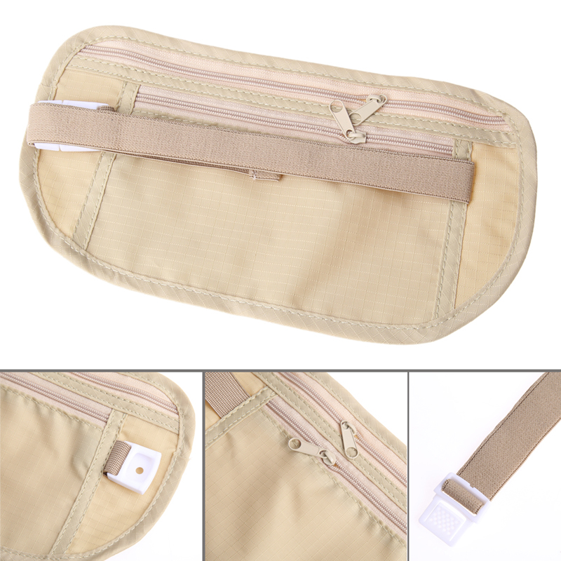 Camping Bags Close Fitted Waist Breathable Mesh Cotton Cloth Pack Bag Pouch For Traveling Outdoor Hiking Double Zipper Bag