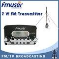 Бесплатная доставка FMUSER FU-7С 7 Вт FM стерео PLL Радио fm-передатчик 1/4 Волны GP мощность антенны КИТ Черный