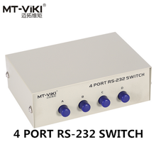 MT-Viki 4 Poort DB9 RS232 Switch Seriële COM Apparaat Console Printer Delen Selector Controller 232-4(China)