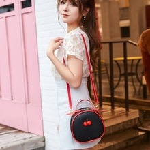 Simple Women Girls Pu Shoulder School Bags Female Travel Cas