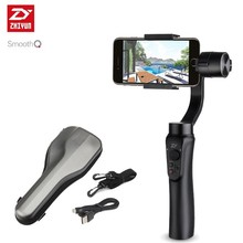 ZHIYUN Smooth Q smartphone Handheld 3 Axis gimbal stabilizer action camera selfie phone steadicam for iphone Sumsung Gopro SJCAM