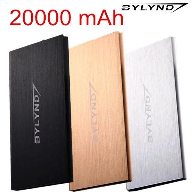 Dual USB 20000 mah Banco de Potencia Portátil batterie externe pack Cargador Powerbank cargador de batería de energía de Reserva de emergencia