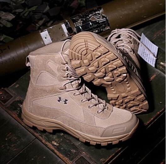 Autumn Winter Men's Army Military Jungle Desert Tactical Combat Warm Boots Outdoor Hiking Shoes - Hard-working people store