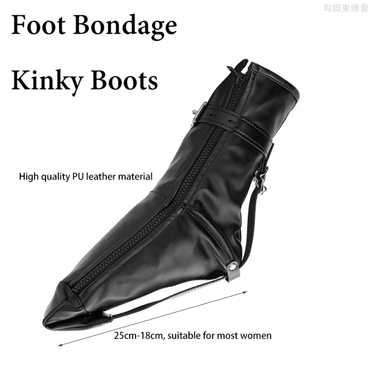1 Pair Fetish Foot Bondage Kinky Boots, Sex Slave bdsm Bondage Restraints Harness, Ankle Cuffs Erotic Toys Sex Toys for Woman