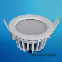 Mejor 2 unids/lote 85-277Vac IP65 a prueba de agua 3 pulgadas 12 W llevó abajo la luz de techo llevada Luz luz LED integrada para exteriores LDL-IP65-12W-3