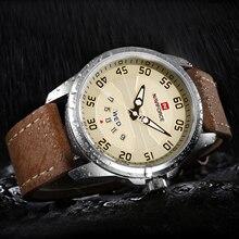 NAVIFORCE Fashion Sports Watches Men Luxury Brand Quartz Date Clock Genuine Leather Strap Waterproof Military Army Wrist Watch стоимость