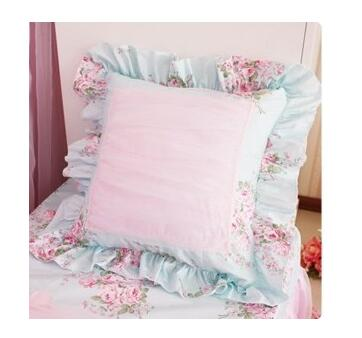 45x45/<font><b>50x50</b></font>/60x60cm pink blue Princess flounce pillowcase Square cushion cover <font><b>pillow</b></font> <font><b>case</b></font> Square cushion covers home decoration image