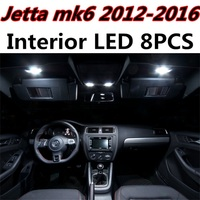 8pcs X Free Shipping Error Free LED Interior Light Kit Package For VW Jetta MK6 Accessories