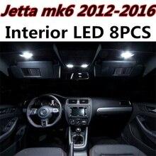 Tcart 8 шт. ошибок авто светодиодные лампы салона автомобиля свет комплект Чтения Купол лампы для Volkswagen VW Jetta MK6 аксессуары 2012-2016