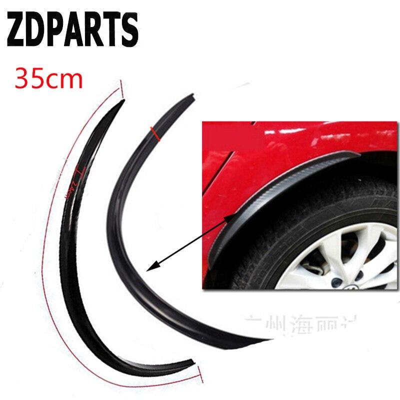 Carbon Fiber Car Fender Flare Trim Wheel Tire 35cm Edge Eyebrow Strip Stickers