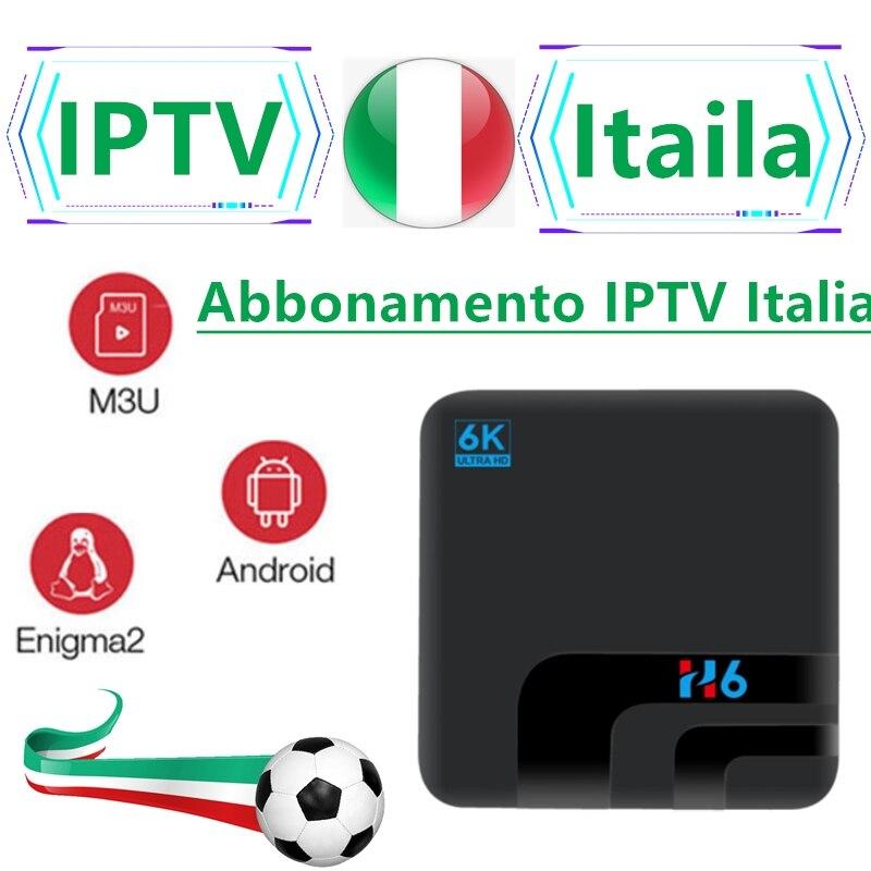 TyinGon H6 IPTV M3u abonnement Iptv italie UK allemand français espagnol Mediaset Premium pour Android Box Enigma2 Smart PC Linux