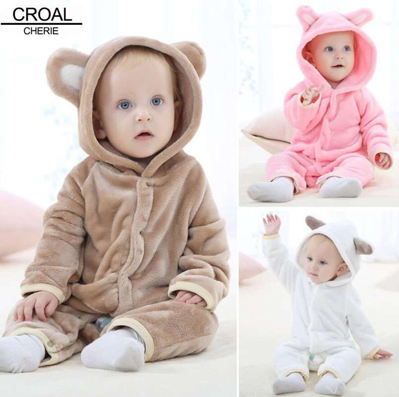 0 18months Soft Warm Unisex Newborn Baby Winter Clothes Animal Rabbit Bear Costume Baby Boys Girls