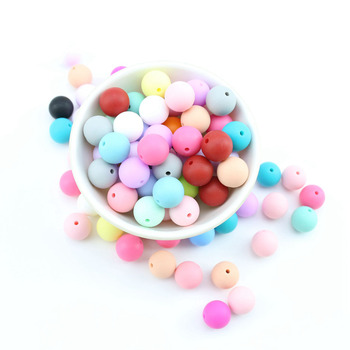 Bite Bites 100pcs 12-20mm Baby Silicone Beads Teether Round Teething Jewelry Food Grade Infant For DIY Chewable Children Goods 1