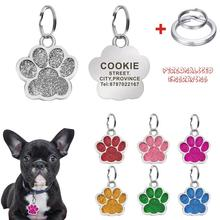Personalized Engraving Pet ID Tag Stainless Steel Dog Cat Name Tags Collar Accessories Pendant Customized Nameplate With Keyring