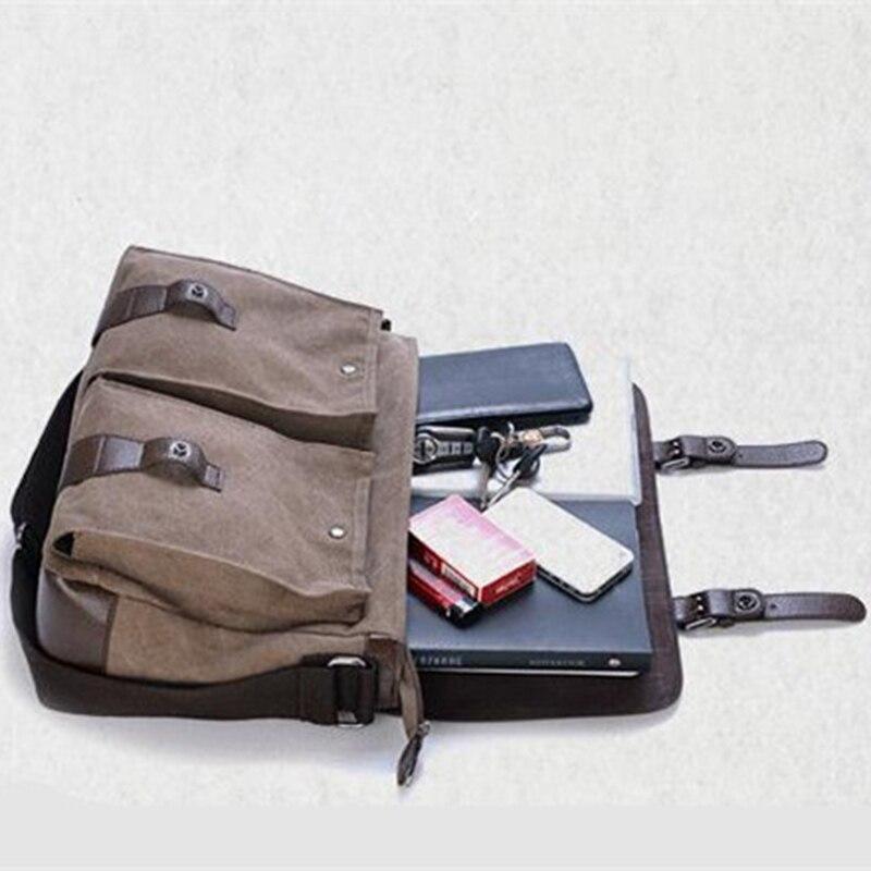 Borsa a tracolla messenger per uomo donna casual in pelle vintage a - Borse da lavoro - Fotografia 5