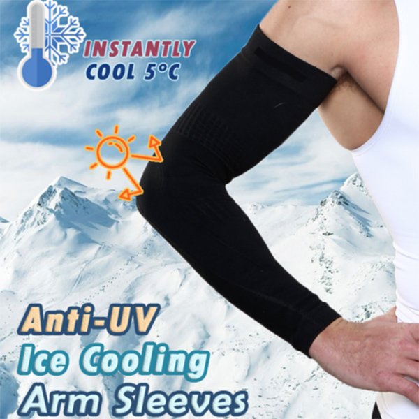 5 Pairs Cooling Arm Sleeves Sun UV Protection Outdoor Sport Sunscreen Half Finger Cover -MX8