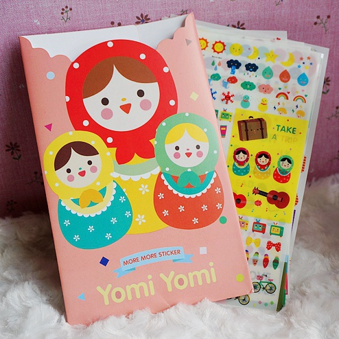Russian Dolls 8 Sheets Scrapbooking Stickers Decorative Sticker Diary DIY Decors Album Decals