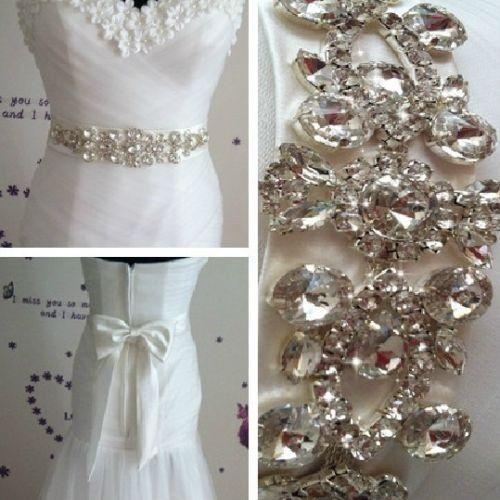 Unique Wedding Dress Sashes Belts: Custom Elegant High End Ivor Satin Wedding Dress