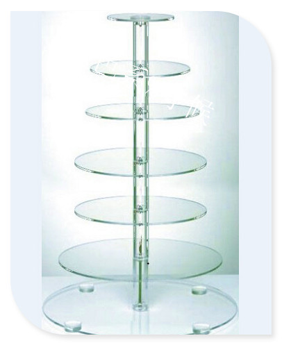 HOT!!!Free Shipping 7 Tier High Transparent Round Acrylic Wedding Cupcake StandHOT!!!Free Shipping 7 Tier High Transparent Round Acrylic Wedding Cupcake Stand