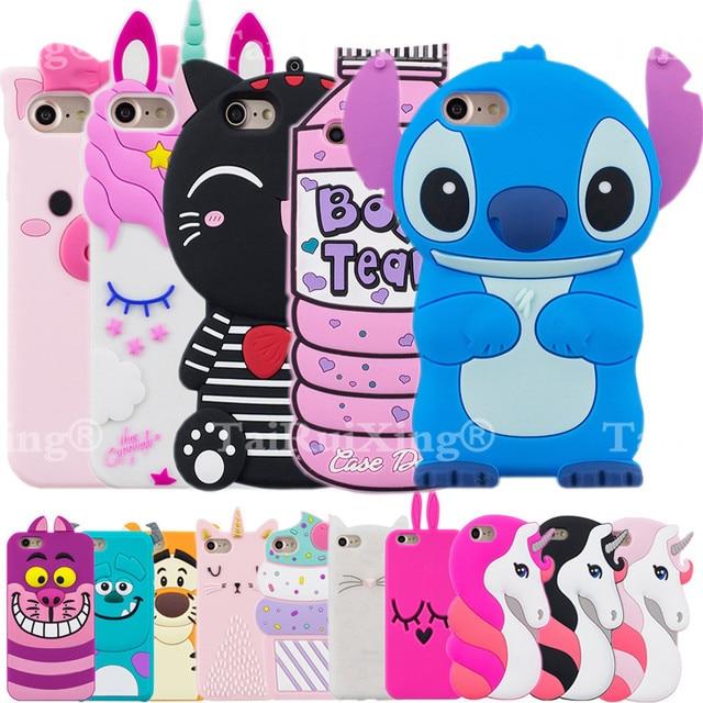 online store c212e f8bc9 3D Cute Unicorn Minions Stitch Phone Silicone soft Case Cover For Xiaomi  Redmi Note 5A Redmi Y1 Lite Cases Gel Shell