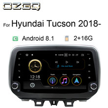 OZGQ Android 8.1 9.0 System PX30 Autoradio Car Multimedia For Hyundai Tucson IX30 2018 2019 With Mirror Link Carplay Bluetooth