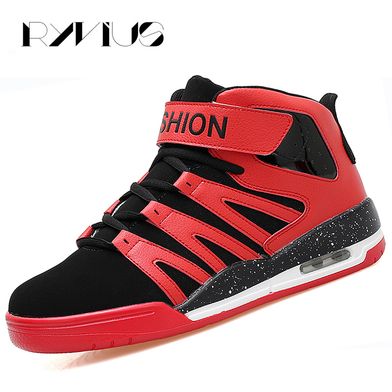 Ryvius Basketball Sneakers Men Sports Shoes High Top Air Cushion Sneakers Women Basket Femme Ladies Athletic Trainers Breathable