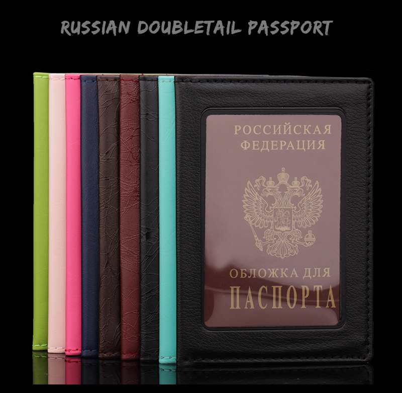 Coin Purses & Holders Card & Id Holders Russian Oil Soft And Solid Brown Double Eagle Travel Passport Holder Built In Rfid Blocking Protect Personal Information To Rank First Among Similar Products