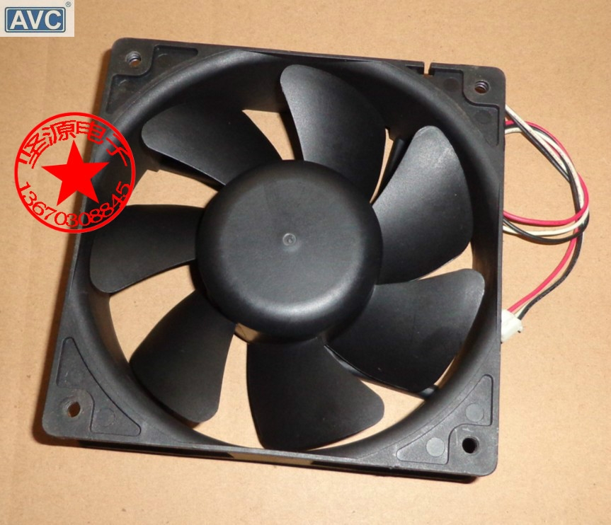 Original AVC E1238B12H 12038 12CM 12V 0.55A  3line intelligent temperature control cooling fan