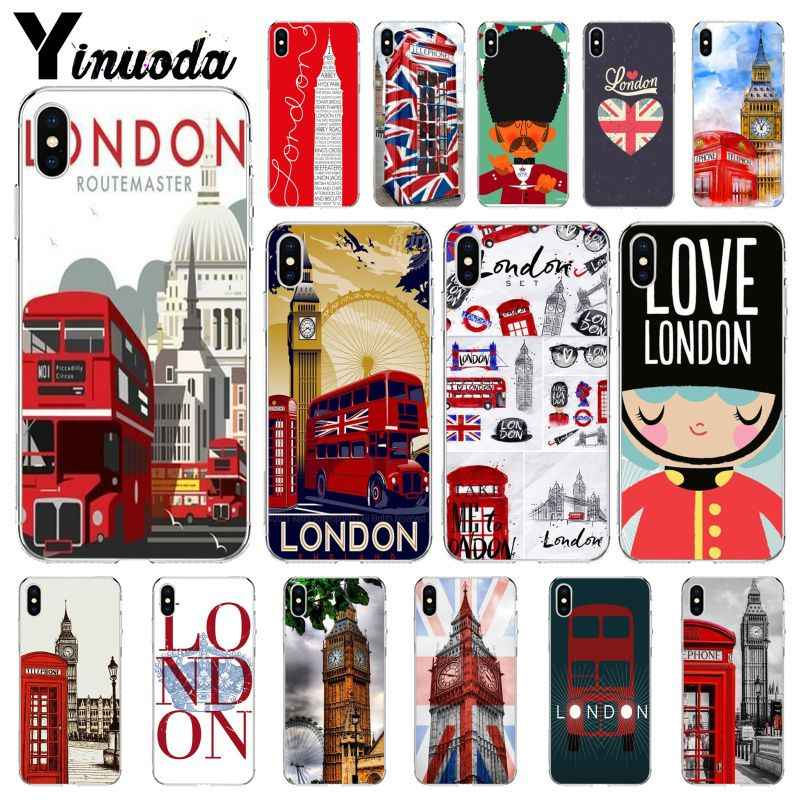 Yinuoda Flag United Kingdom London Big Ben TPU Soft Silicone Phone Case Cover for Apple iPhone 8 7 6 6S Plus X XS MAX 5 5S SE XR