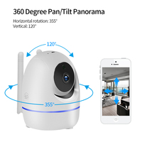 LOOSAFE Home Security IP Camera Automatic tracking PTZ Cloud Wifi IP Camer IRCut Night IR Audio Record P2P HD CCTV Surveillance