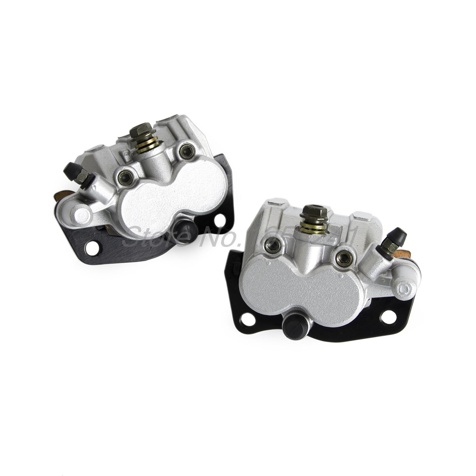 Front Right & Left Brake Caliper With Pads For Suzuki Burgman 400 AN400 2007 2008 2009 2010 2011 front left and right brake caliper suit for atv xplorer 250 400 1999 2002 4x4
