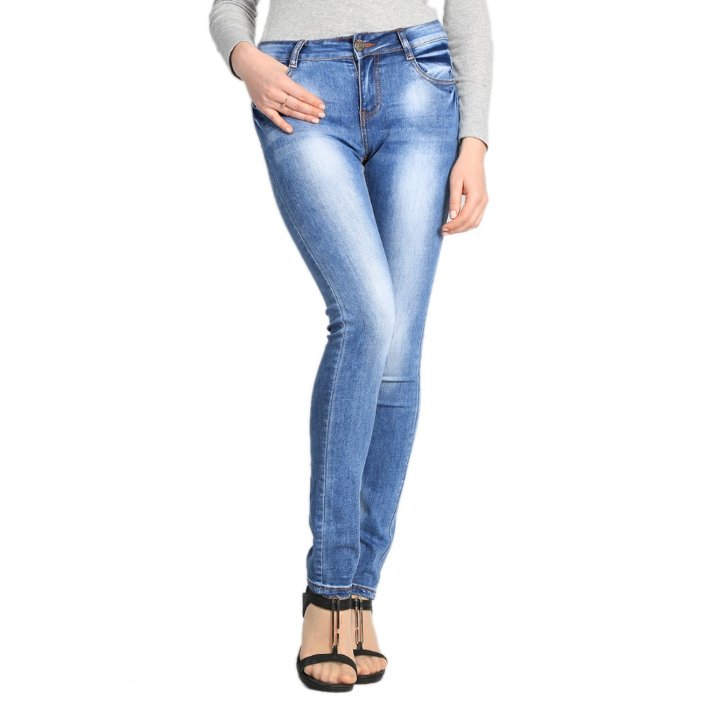2017 Skinny Denim Women Plus Size Stretch Skinny High Waist Jeans Women Fashion Pants Women Pencil Casual Slim Denim Pants W214 rosicil women jeans plus size stretch skinny high waist jeans pants women blue pencil casual slim denim pants top 003