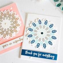 Eastshape Metal Dies Flower Decors Cutting die For Scrapbooking Making Card Album Photo Craft Die Cut Circle Frame