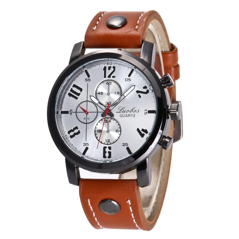 Fashion Style Womens Alloy Case Leather Band Round Dial Quartz Wrist Watch