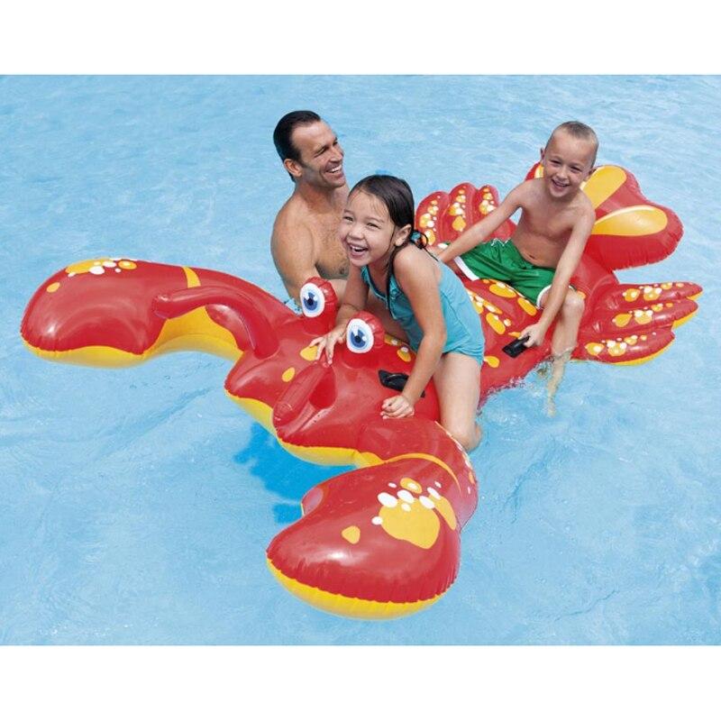 Multi-usages grand homard gonflable extérieur forme maison enfants comme jeux natation produits bébé natation