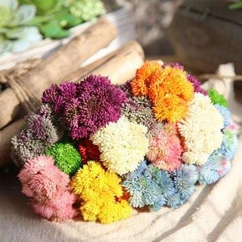 Plantas artificiales para decorar flores artificiales DIY flores artificiales para el aliento de bebé Plantas suculentas falsas