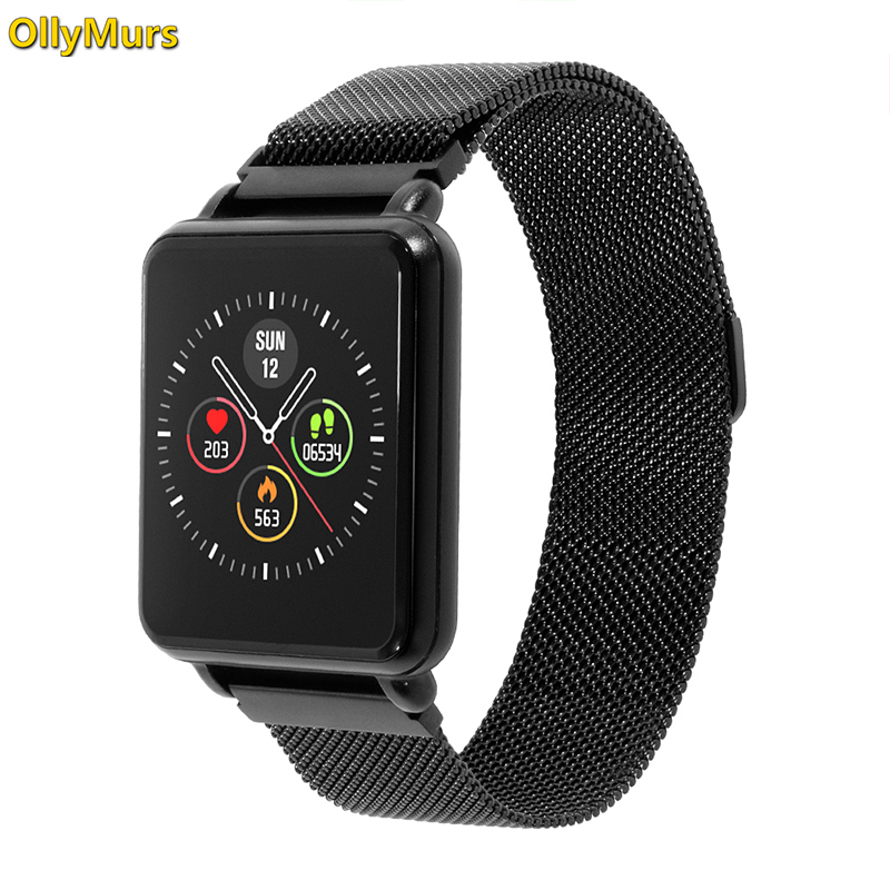 2019 Land 1 Full touch screen Smart watch IP68 waterproof Bluetooth Sport fitness tracker Men Smartwatch For IOS Android Phone