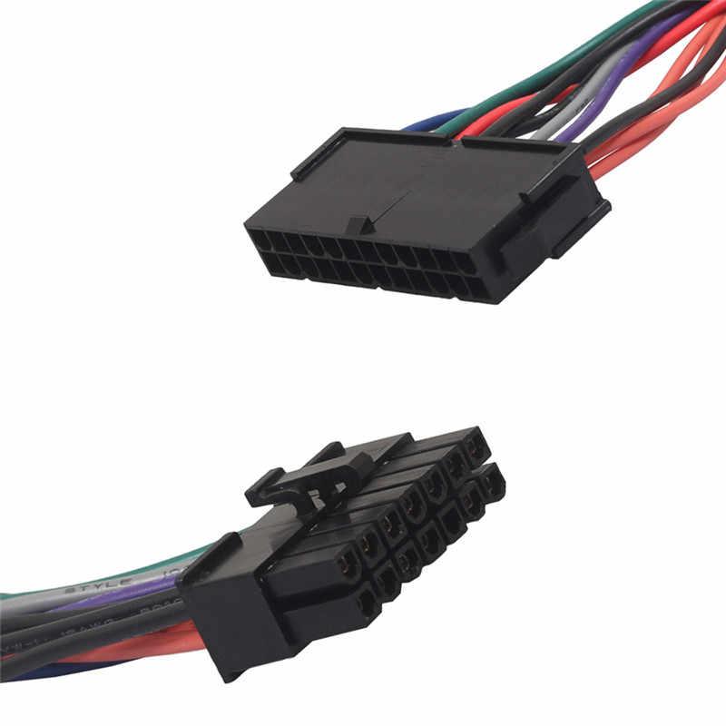 Новый 15 см Мощность кабель 18AWG провода блок питания ATX 24 pin до 14 штыревой адаптер питания для Lenovo, IBM Dell Q77 B75 A75 Q75 материнская плата