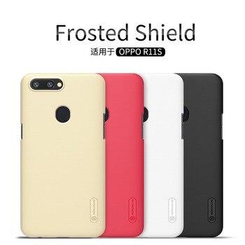 Para OPPO R11S R11S Plus funda Nillkin frosted shield carcasa dura para teléfono móvil plástico mate contraportada bolsas protectoras para teléfono móvil