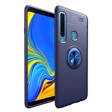 Fashion Mobile Phone Case For Samsung Galaxy A6 A7 A9 2018 Cover Plus Soft TPU Luxury Magnet Ring