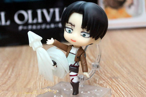Image 3 - Japan Anime Action Figure Game Attack on Titan Levi Ackerman 390# 10cm PVC Model Collection Q Version Cute Toys Doll Brand New