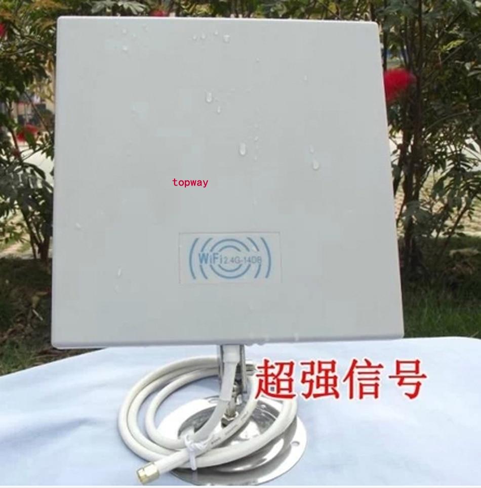 imágenes para 14dB 2.4 GMHz WIFI inalámbrico WLAN antena de PANEL exterior, antena de PANEL WIFI con 2 metro cable