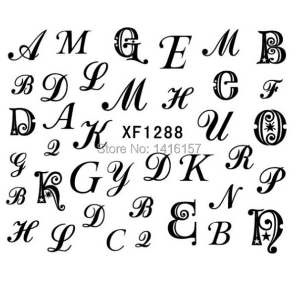 Sticker Design Letters