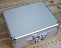360 280 150mm Aluminum Alloy Tool Box Equipment Display Case File Storage Box Portable Cipher Lock