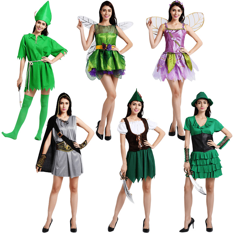 Cosplay elf costume female adult little Snidget Peter pan fuzhuang masquerade costume