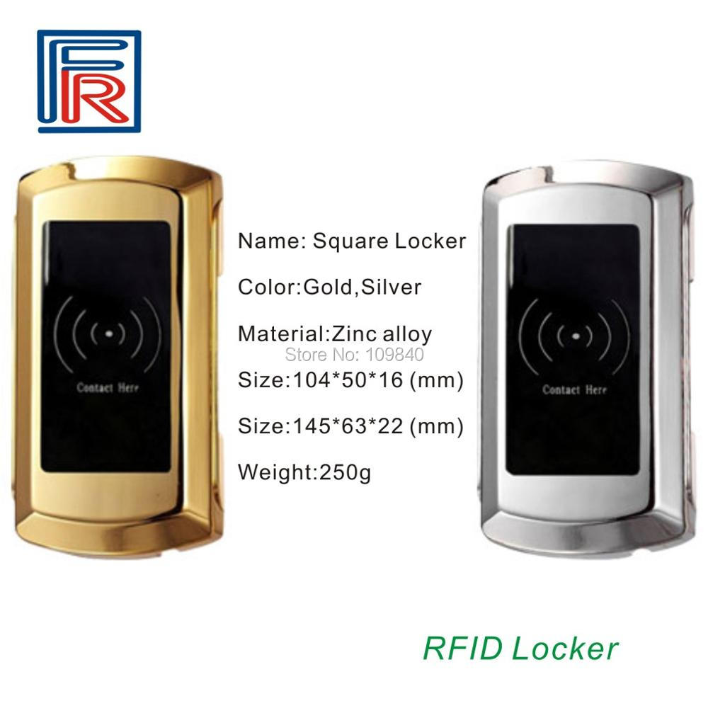 10pcs Easy Use Gym/sauna/hotel Digital Rfid Locker Lock With 13.56mhz Rfid Card Wristband Key Access Control Kits
