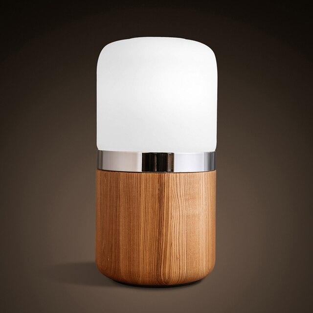 Tischlampe Gravierte Holz Kunst Dekoration 7 Watt Led Lampen